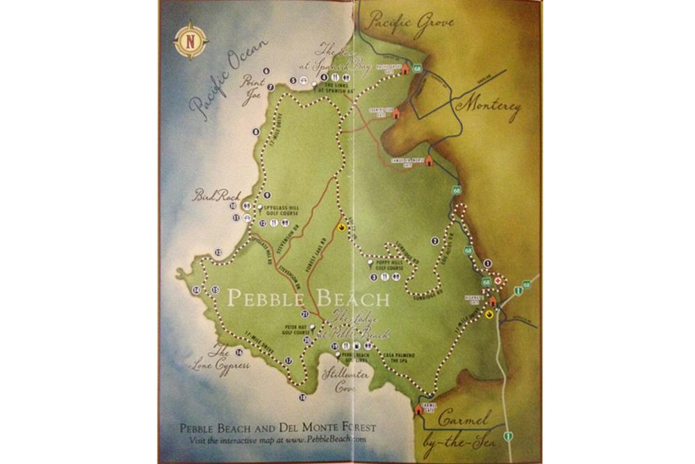 mapa 17 mile drive