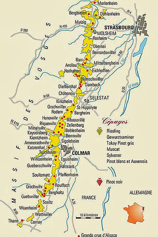 alsace- route vin