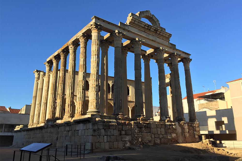 Templo romano de Diana, em Mérida, na Extremadura