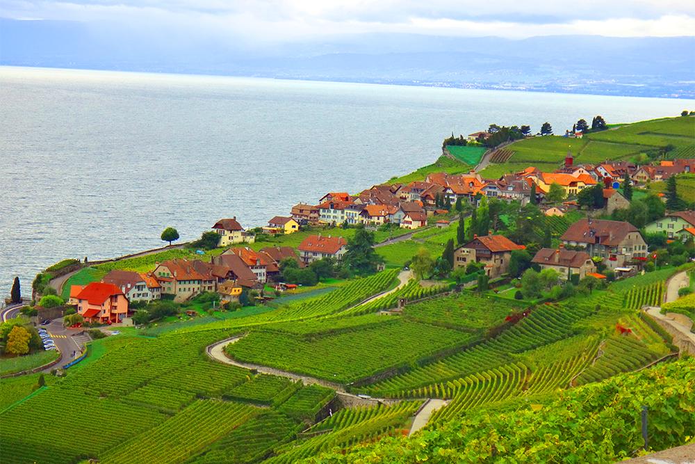 Região vinícola de Lavaux, na Suíça
