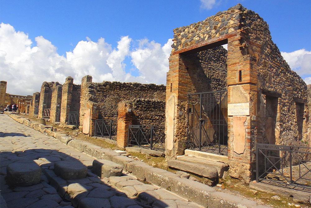 As ruínas de Pompeia, na Itália