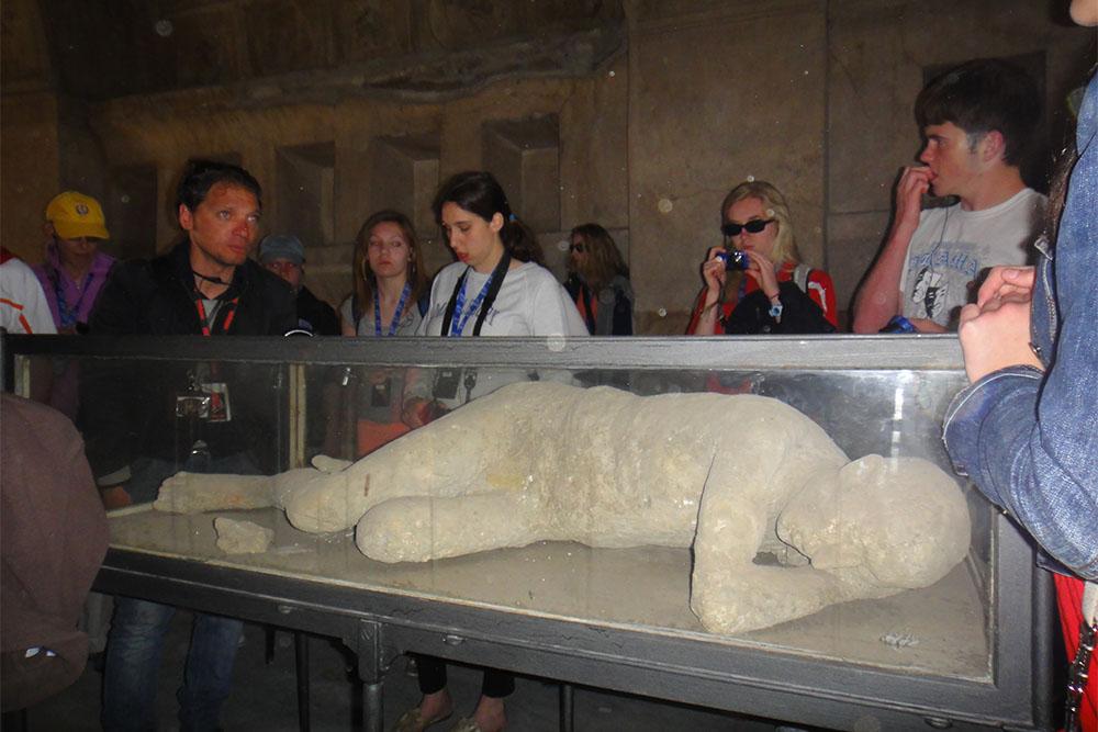 múmias de Pompeia, na Itália