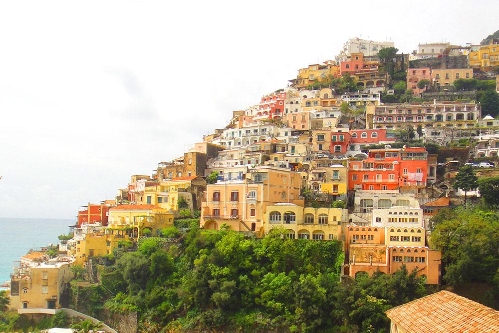 Positano, uma das belas cidades da Costa Amalfitana