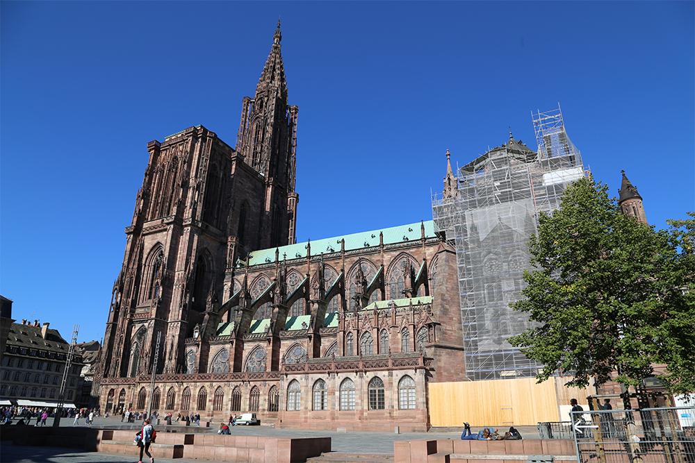 A Cathédrale Notre Dame, em Strasbourg