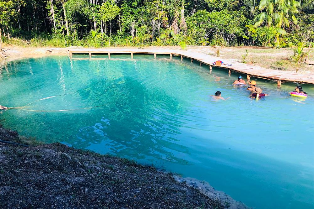 Lagoa Azul Park, em Presidente Figueiredo