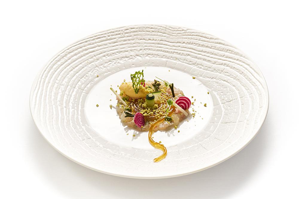 Tartar de peixe do chef Benoit Sinthon, do Il Gallo Doro