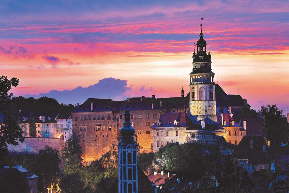 Castelo de Český Krumlov, na República Tcheca. Foto: Divulgação