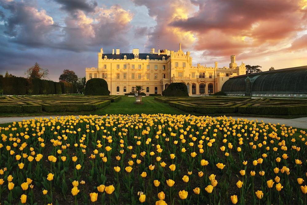 Palácio de Lednice, na República Tcheca. Foto: Divulgação