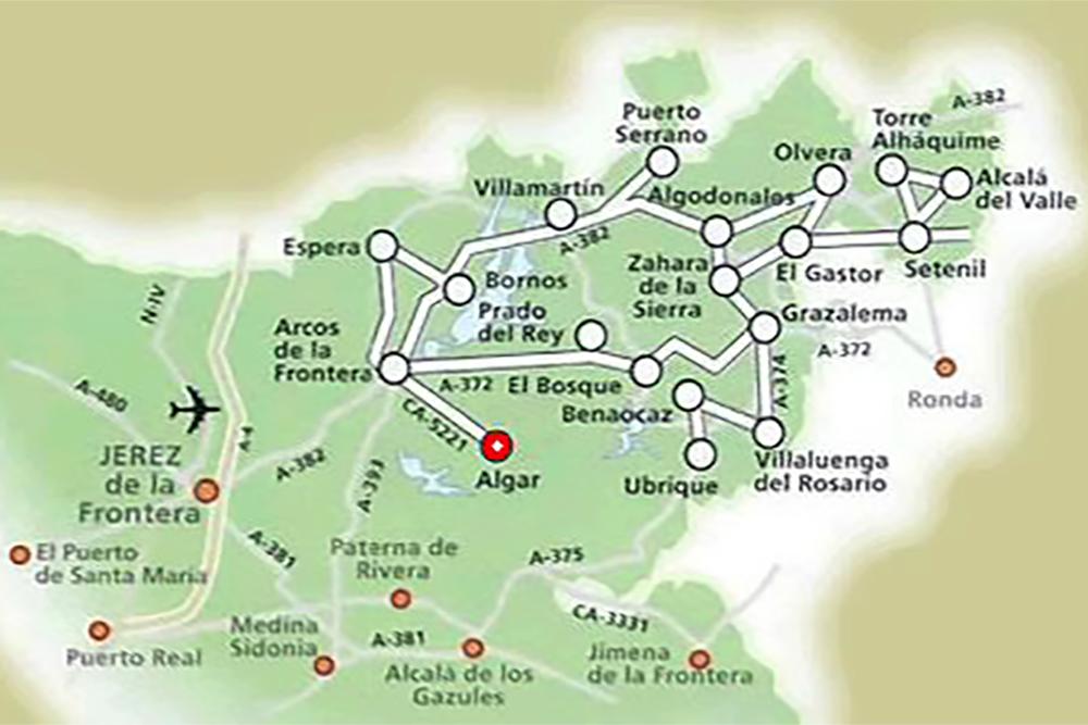 Mapa dos Pueblos Blancos