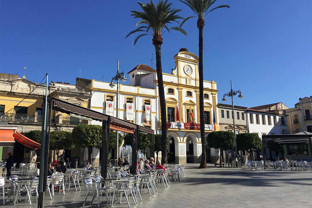 Praça de Espanha, em Mérida