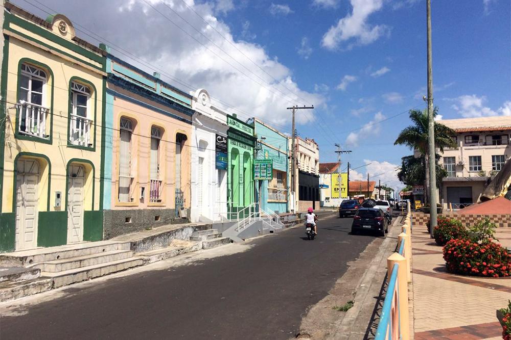 Casario no centro histórico de Parintins