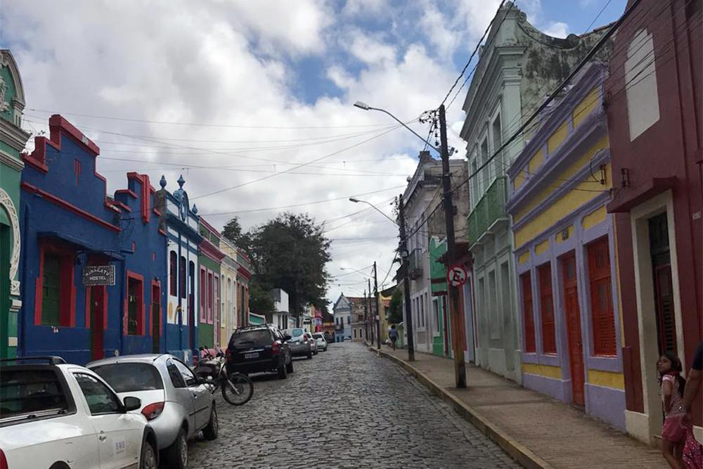 O casario colorido de Olinda