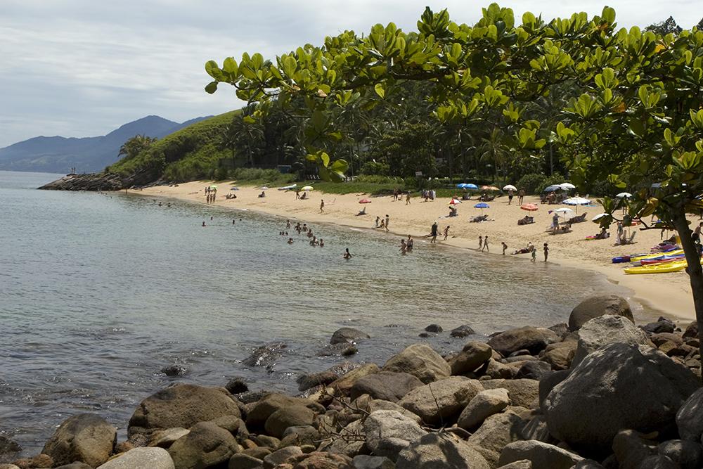 Belas praias no litoral norte de São Paulo