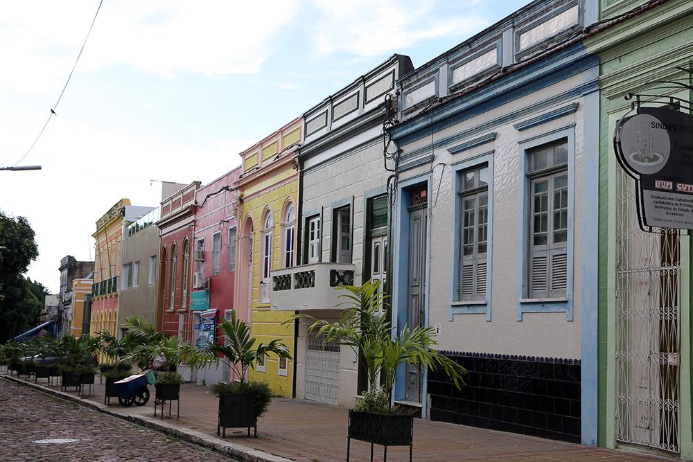 Rua Bernardo Ramos, no centro histórico de Manaus