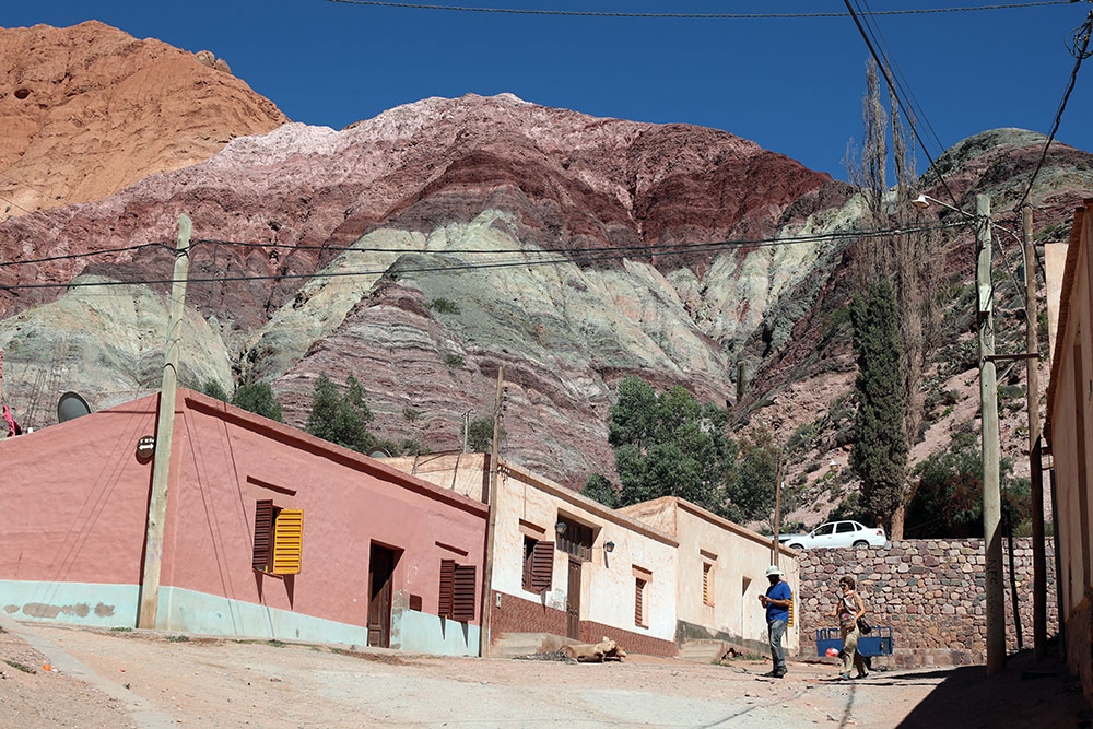 Purmamarca, na província de Jujuy, na Argentina