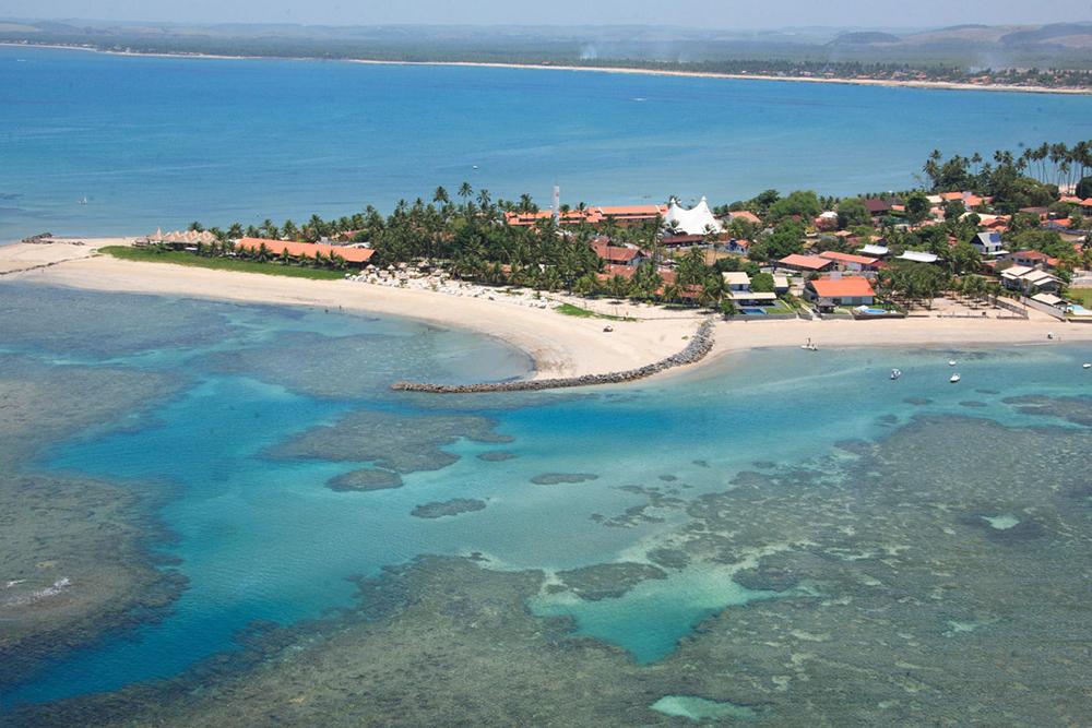 A localização espetacular do Serrambi Resort