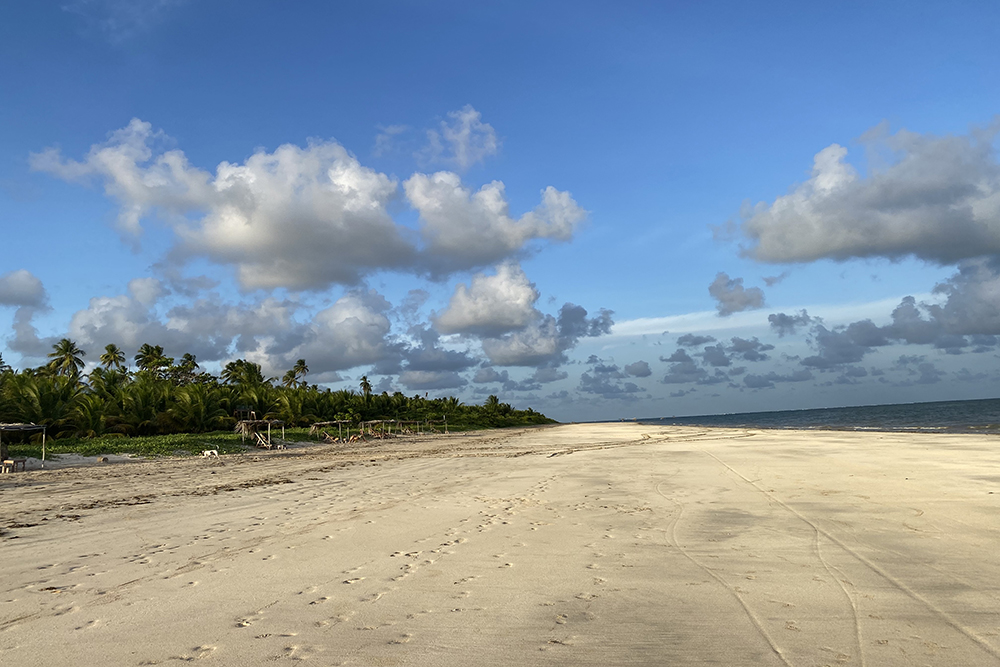 Praia do Toque, uma das mais exclusivas de São Miguel dos Milagres.