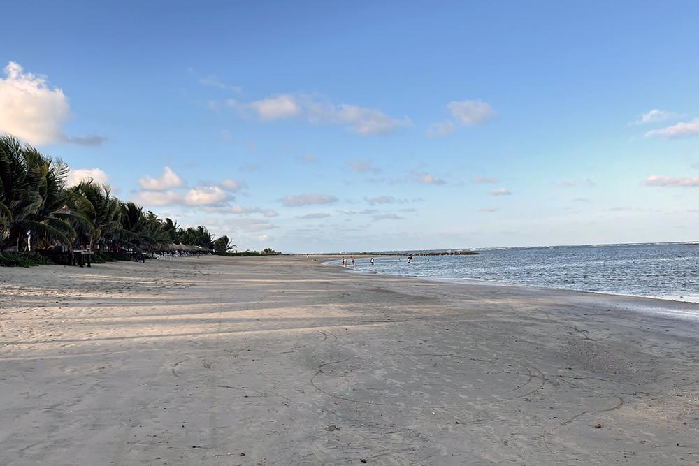 Praia da Enseadinha, em frente ao Serrambi Resort, em Ipojuca